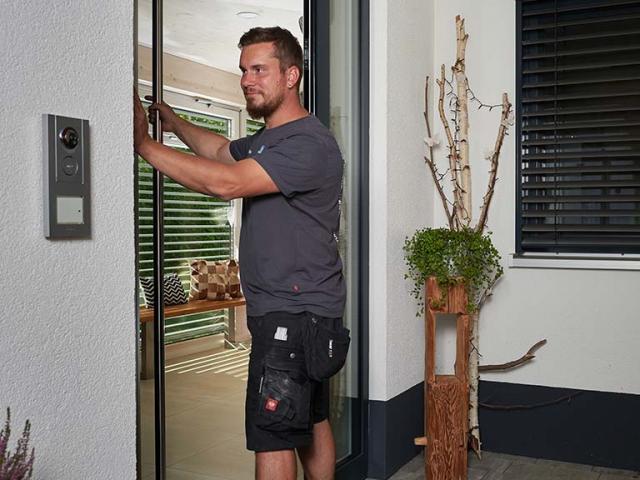 Montage einer Haustüre